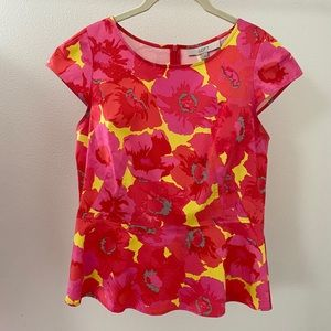 Loft fitted floral blouse